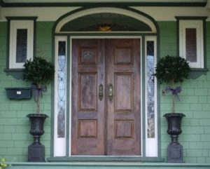 wood front door installation